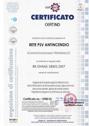 RETE - OHSAS 18001 2007